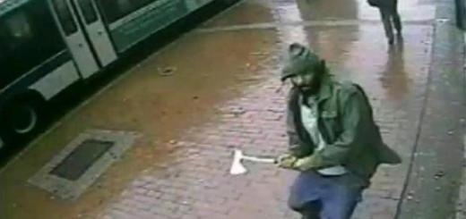 A frame from a video of the attack released by the New York Police Department. NYPD