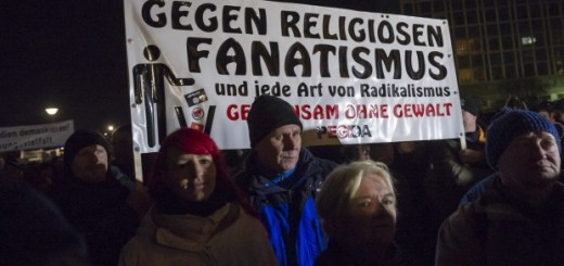 Uneasy about changing demographics: Supporters of the Pegida movement take part in a rally in Dresden. Photo: Getty Images