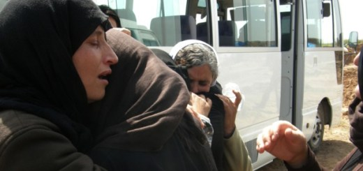 Yazidi women, released by Islamic State group militants, arrive in Kirkuk, 180 miles (290 kilometers) north of Baghdad, Iraq, Wednesday, April 8, 2015. The Islamic State group released more than 200 Yazidis on Wednesday after holding them for eight months, an Iraqi Kurdish security official said, the latest mass release of captives by the extremists.  (AP Photo)// fo0409-brief-2