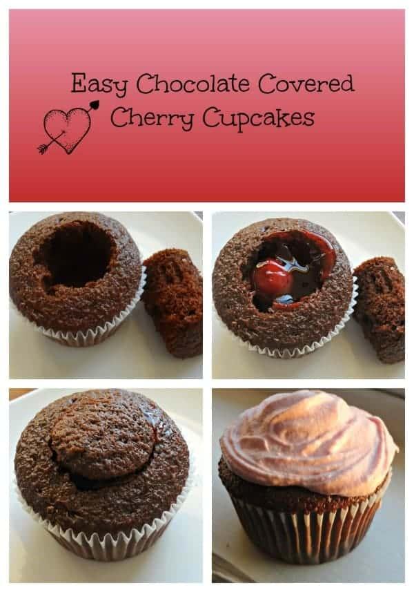 Chocolate Covered Cherry Cupcakes | Faithfully Free