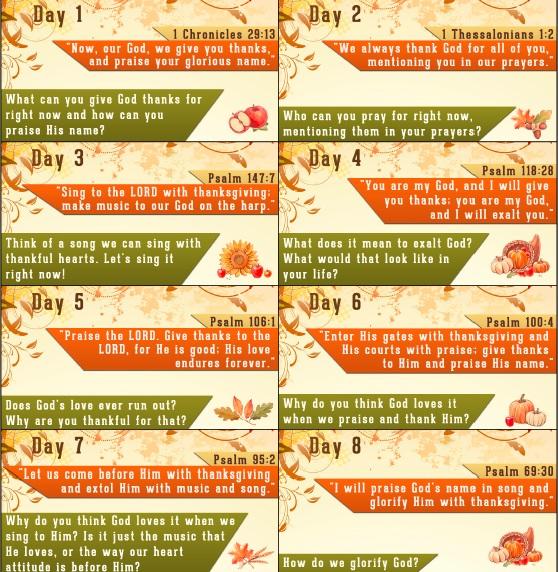Thanksgiving Bible Verses - Free Thanksgiving Countdown Printable