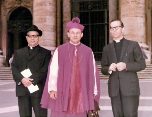 Bishop Enrique Angelelli in Rome particiapting in the Second Vatican Council. At the time he was the youngest bishop ever appoointed to Argentina.