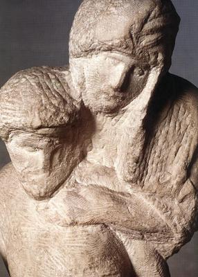 In Michelangelo's final sculpture, the figure of Christ, even in death, appears to be sustaining his sorrowing mother.