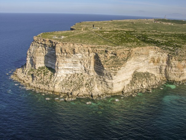 The Lampedusa headlands: the barren island at the southern most tip of Europe has become the destination for hundreds of thousands of refugees fleeing oppression, violence, and poverty in North Africa.