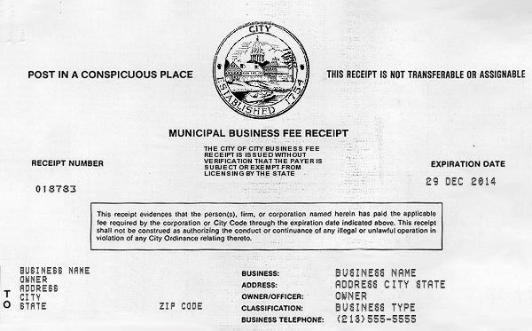 Free Online Receipt Maker - Fake Business License - Fake Receipt - fake receipt template