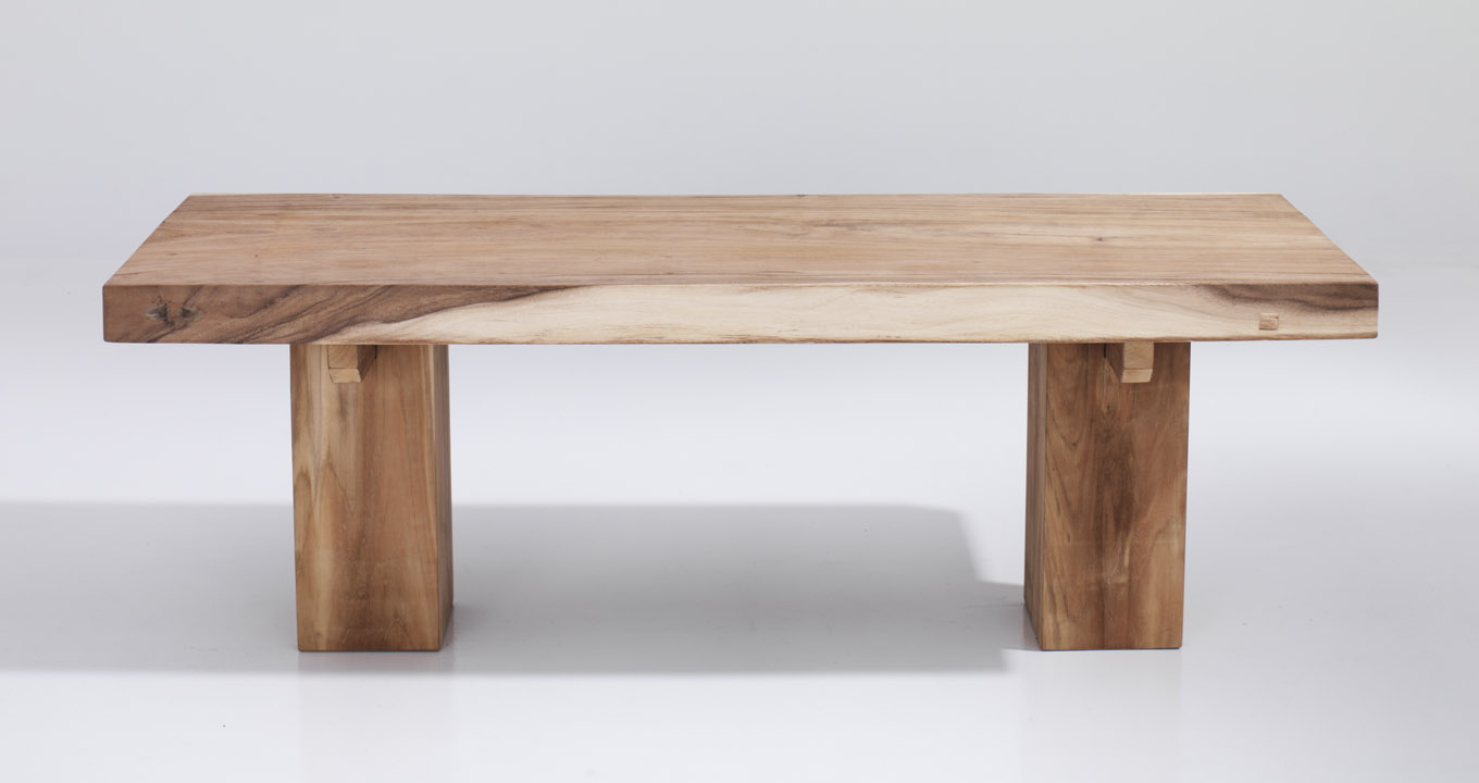modern wood console table