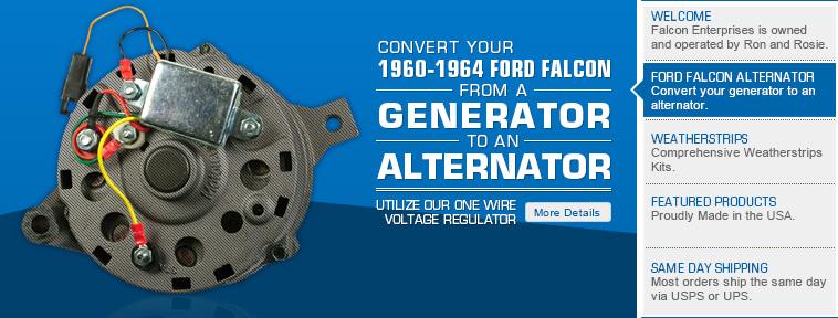 Falcon Enterprises has the Ford Falcon  Mercury Comet parts for
