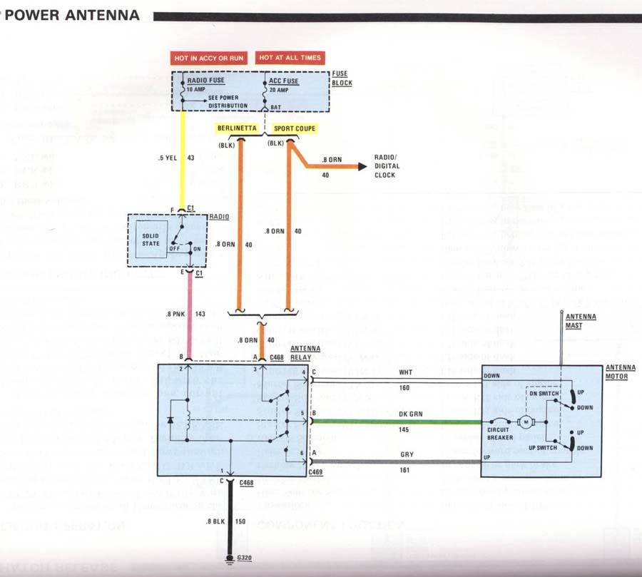 auto antenna wiring diagram