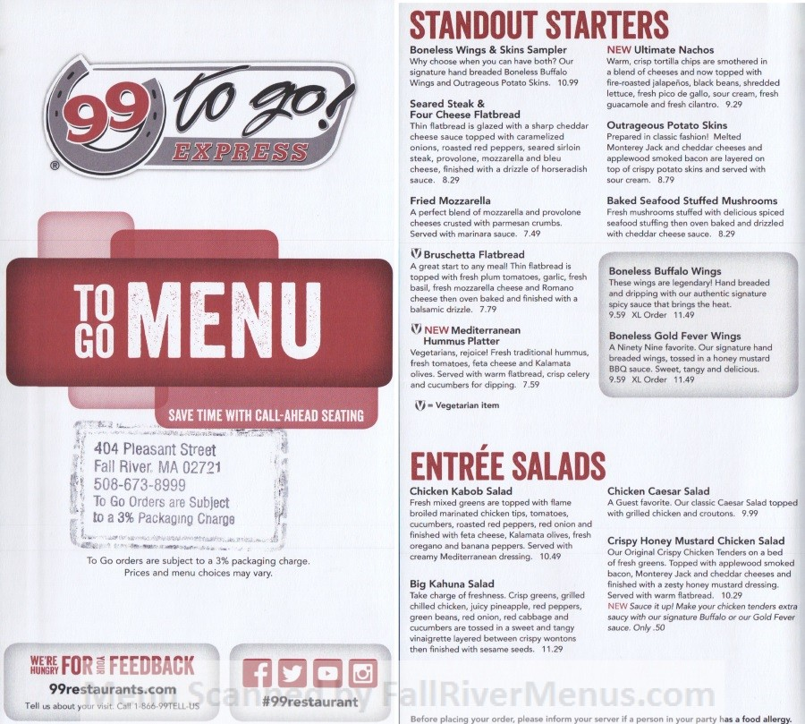 99 Restaurant (pub 99) - Fall River Restaurants