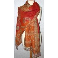Merino Wool Sunshine Floral Shawl