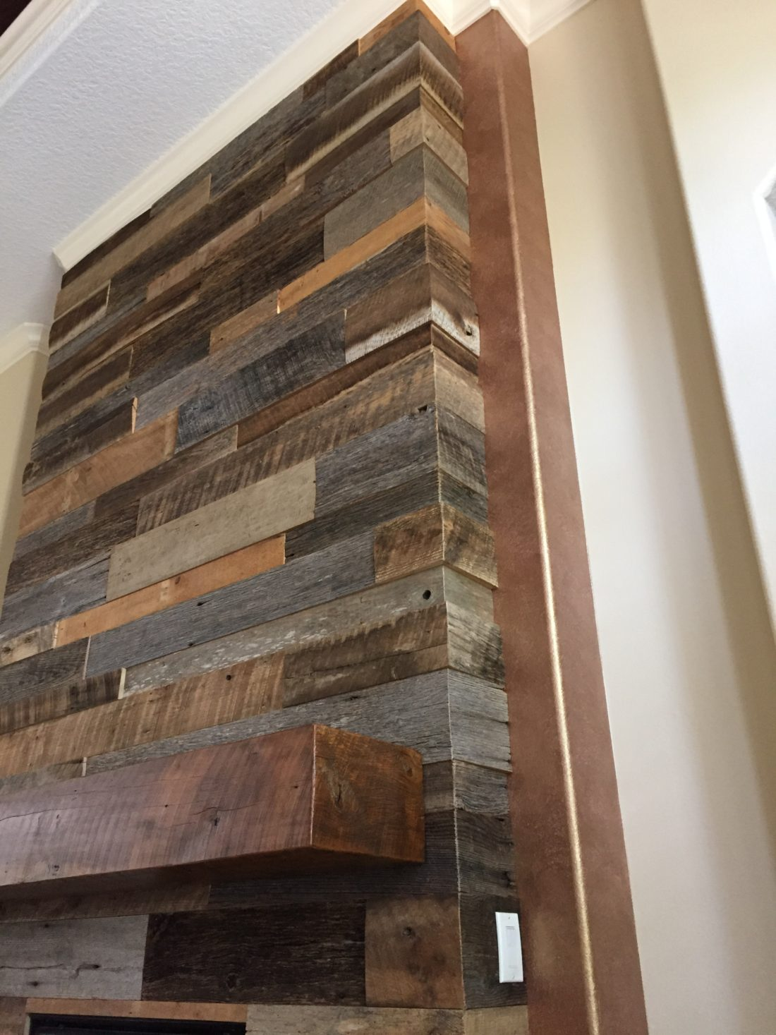 Reclaimed Wood Fireplace