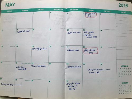 How to Start a Budget (and be successful at it!) Family Balance Sheet - sample budget calendar