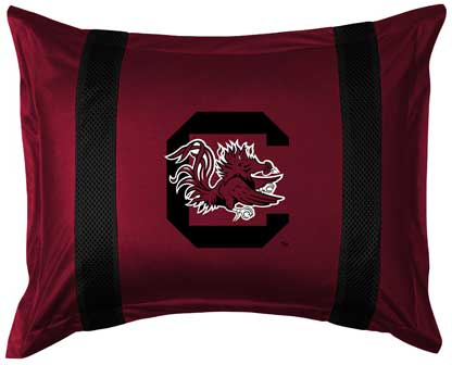 South Carolina Gamecocks Side Lines Pillow Sham
