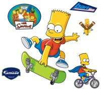 Bart SK8 Fathead Simpsons Wall Graphic
