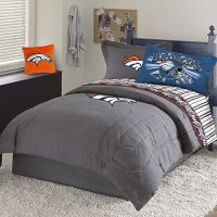 Denver Broncos NFL Team Denim Full Comforter / Sheet Set