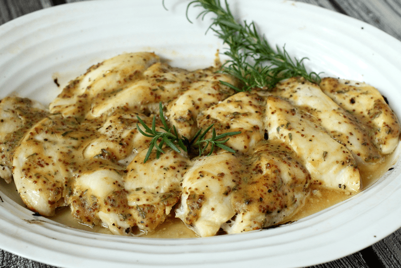 ... chicken breasts into strips, smother them with this yummy honey-dijon