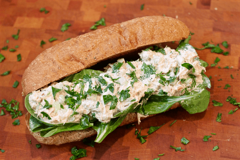 Crab dip gets turned into crab salad and upgraded to fancy sandwich ...
