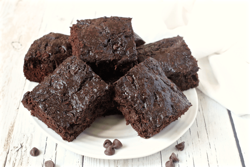 ... and delicious (and secretly healthy) chocolate chip zucchini brownies