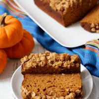 Whole wheat pumpkin applesauce bread