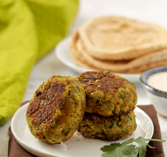 Easy baked falafel and tahini sauce