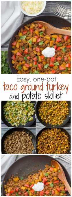 Piquant Potatoes A Healthy Taco Turkey Potato Skillet Family Food On Table Ground Turkey Tacos Vs Ground Beef Ground Turkey Tacos Martha Stewart Healthy Ground Turkey Tacos