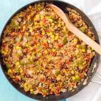 Southwest vegetarian quinoa skillet