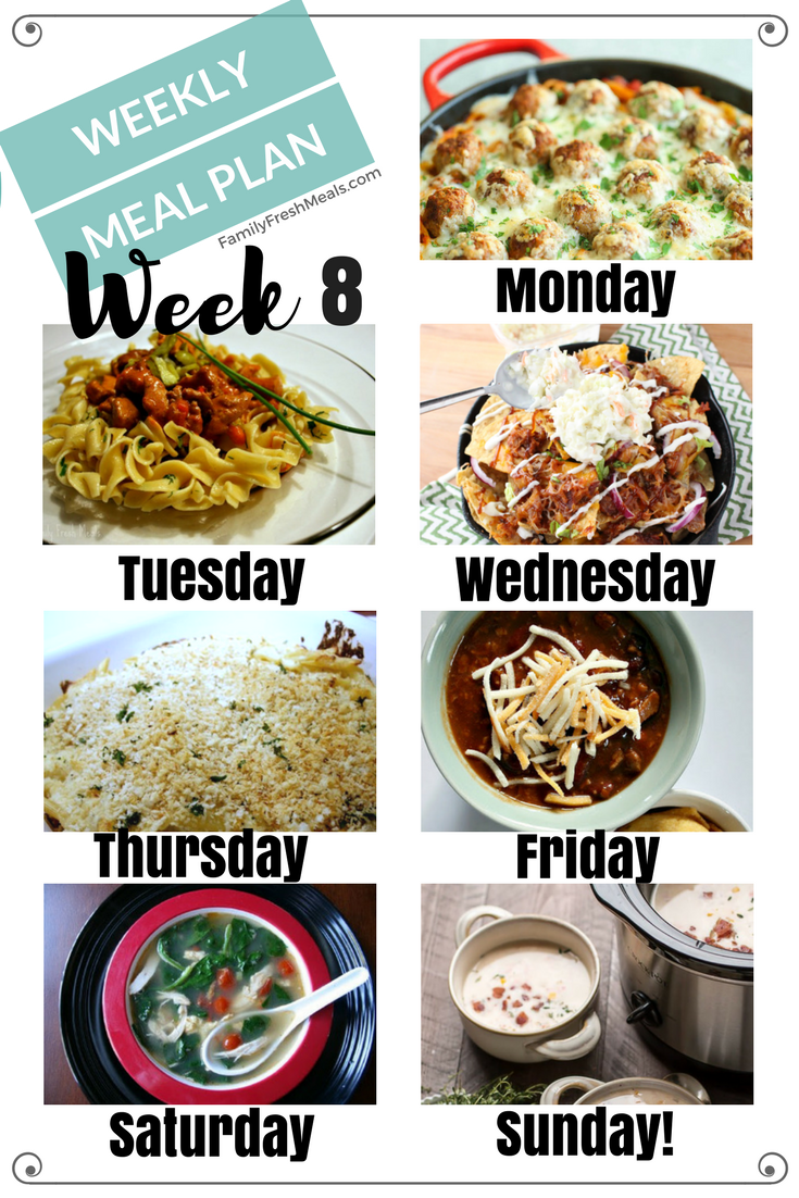 weekly family meal plans