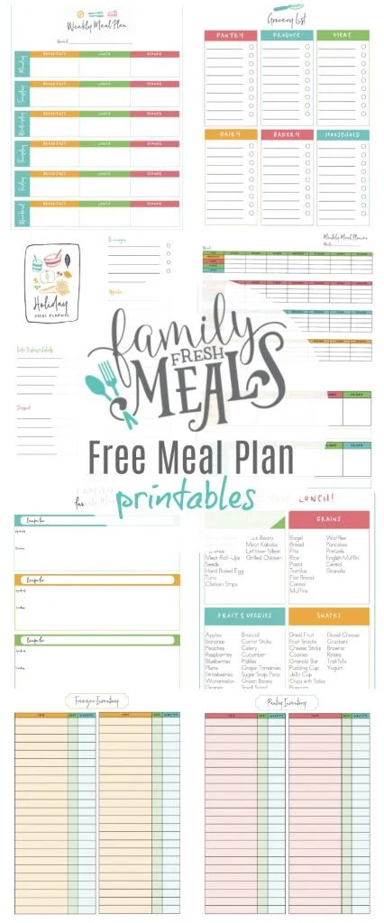 Email Newsletter and Free Meal Plan Printables - Family Fresh Meals