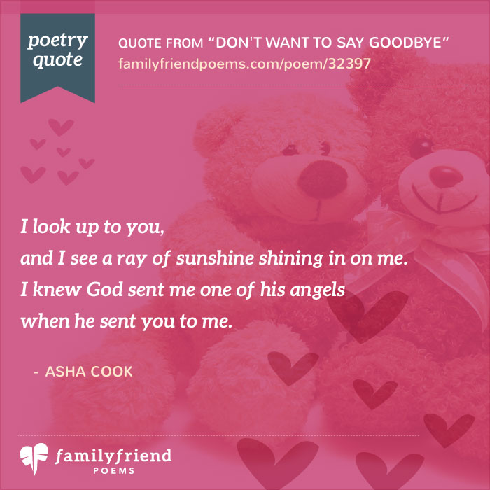 Goodbye To A Special Teacher, Don\u0027t Want To Say Goodbye, Teacher Poem