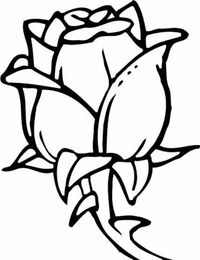 Rose With Leaf Coloring Page Free Printable Coloring Pages - best of easy coloring pages for christmas