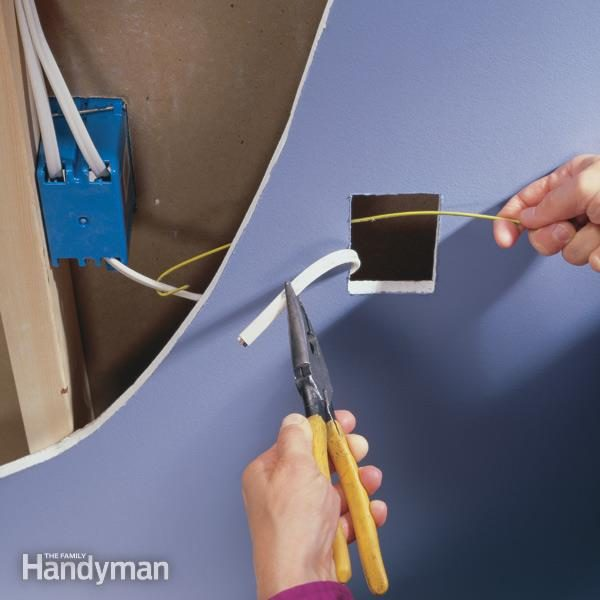 How to Wire an Outlet and Add an Electrical Outlet \u2014 The Family Handyman