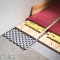 How to Carpet a Basement Floor | The Family Handyman