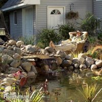 How to Build a Pond and Waterfall in the Backyard | The ...