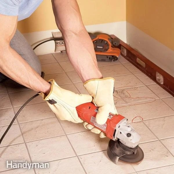 Tile Installation How to Tile Over Existing Tile The Family Handyman
