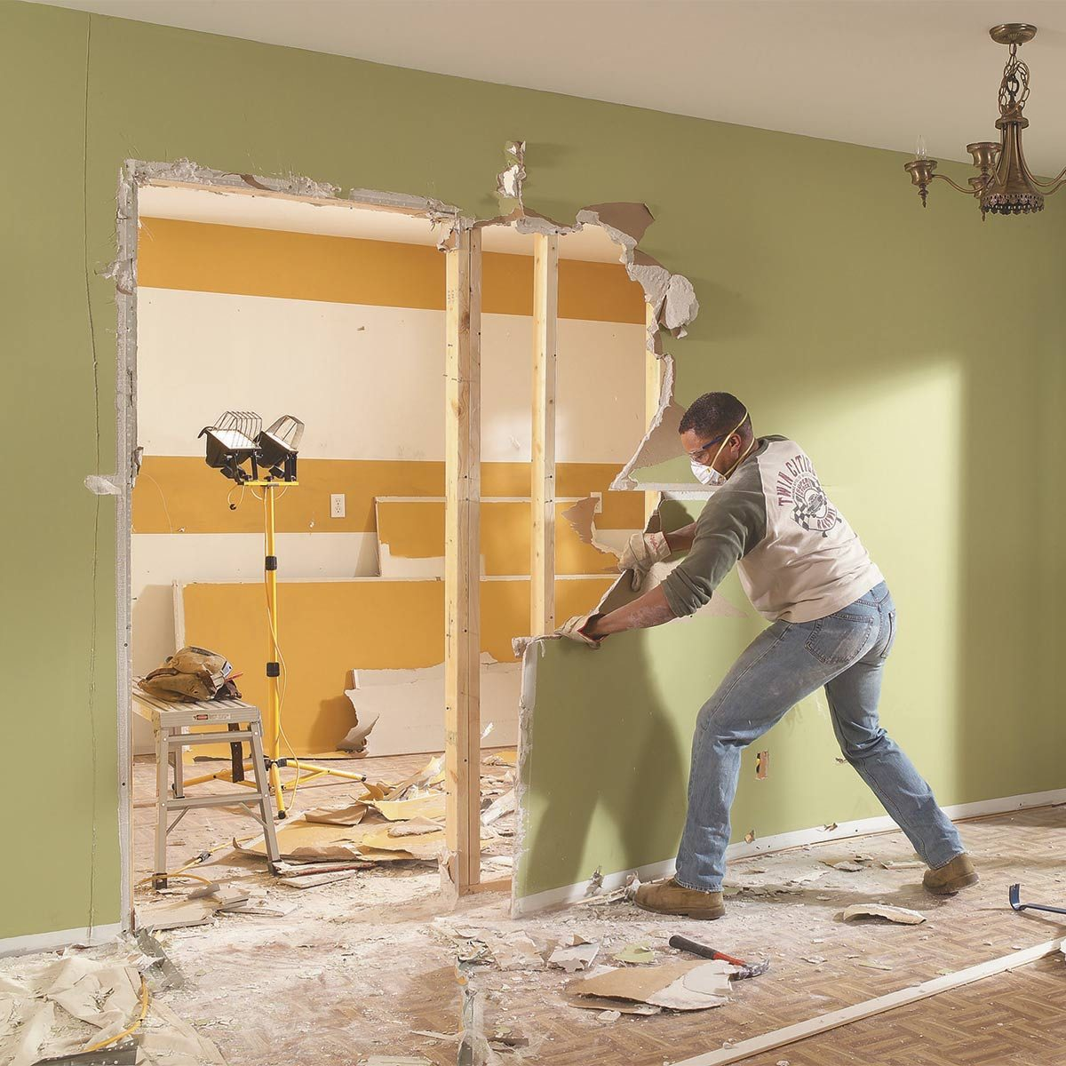 Wallpaper Falling Off Ceiling 51 Diy Demolition Tips You Need To Know The Family Handyman