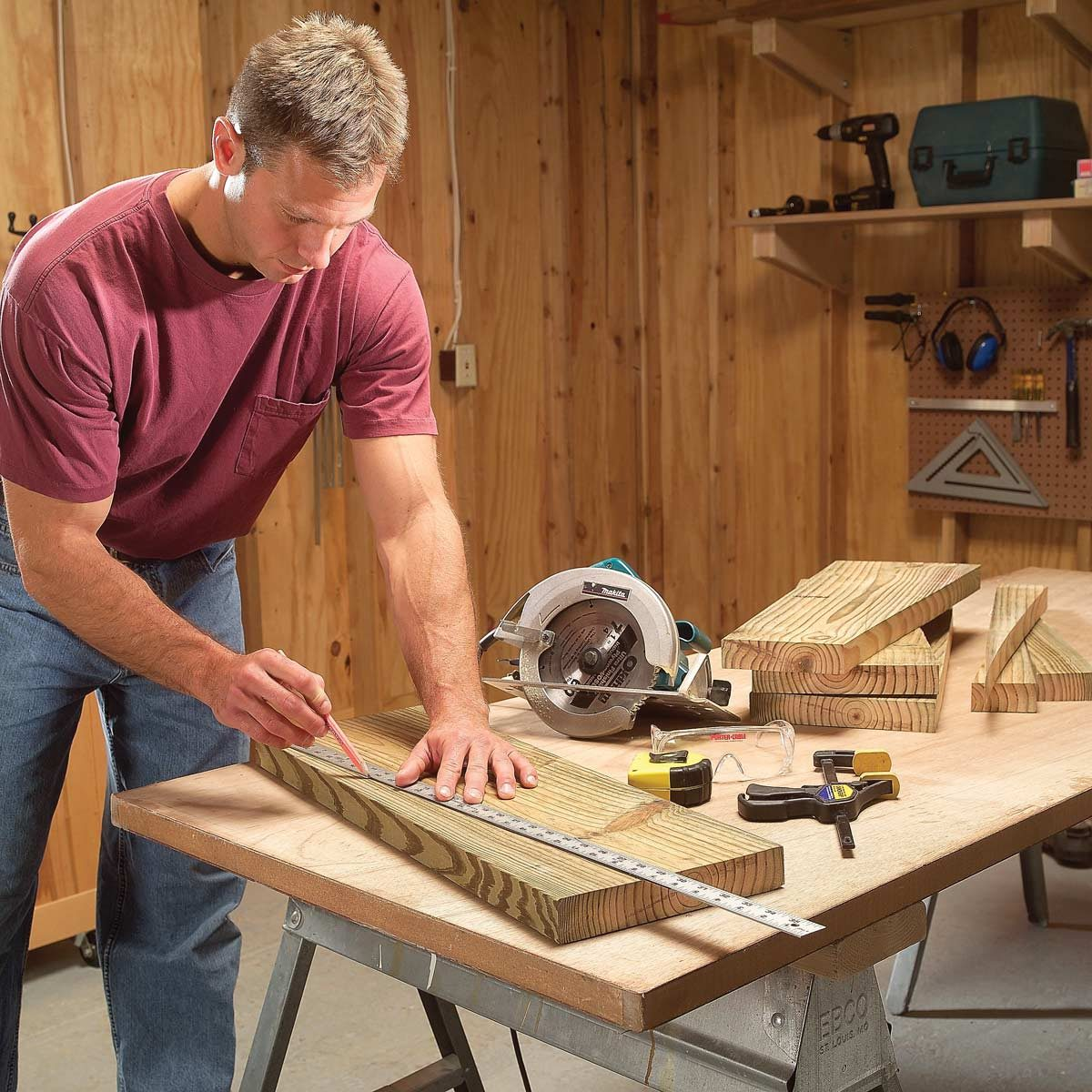 Rock Solid Outdoor Picnic Table And Benches Family Handyman