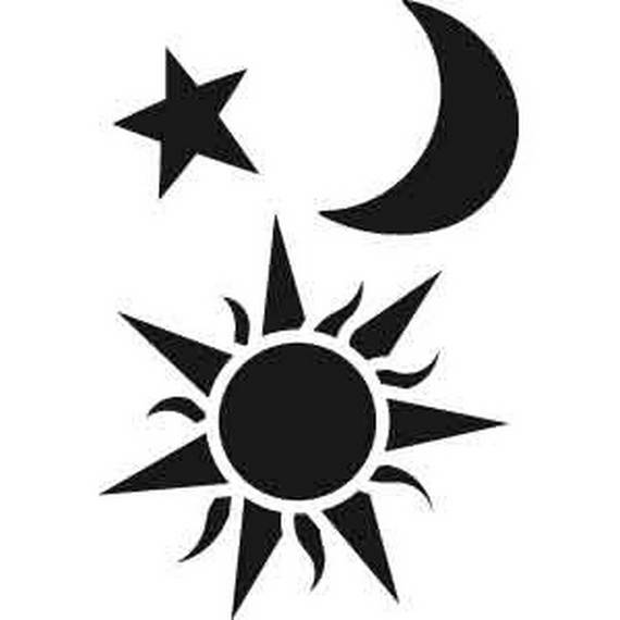 Sun and Moon Home Decor Accessories for Ramadan - family holidaynet - small sun template