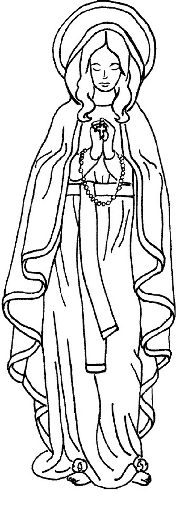 Printable coloring pages virgin mary related posts the assumption of blessed virgin mary glorious mysteries