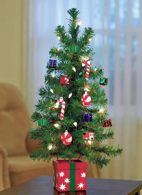 Miniature Tabletop Christmas Tree Decorating Ideas - family - mini christmas tree decorations