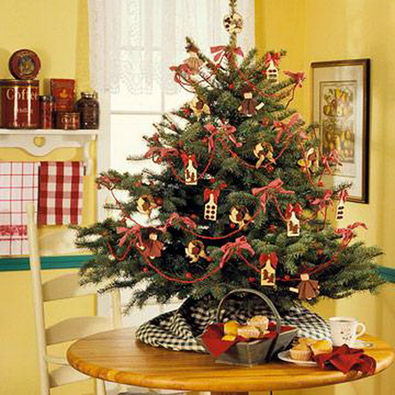 Miniature Tabletop Christmas Tree Decorating Ideas - family - small decorated christmas trees