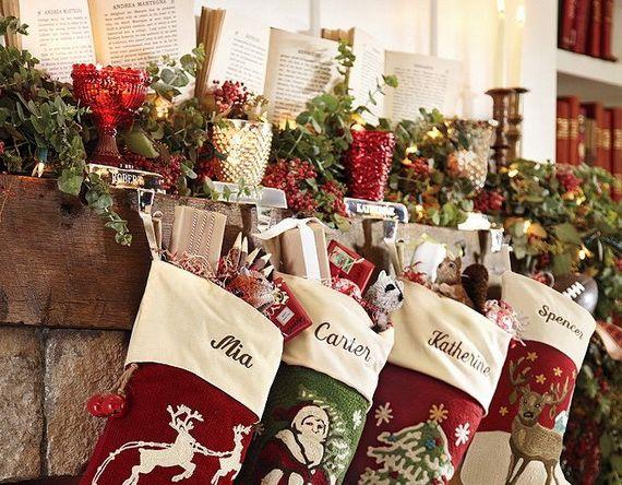 Gorgeous Fireplace Mantel Christmas Decoration Ideas - family - christmas mantel decor