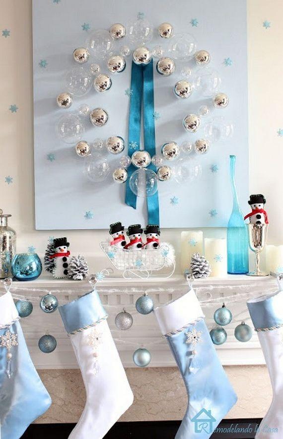 Gorgeous Fireplace Mantel Christmas Decoration Ideas - family - christmas fireplace decor
