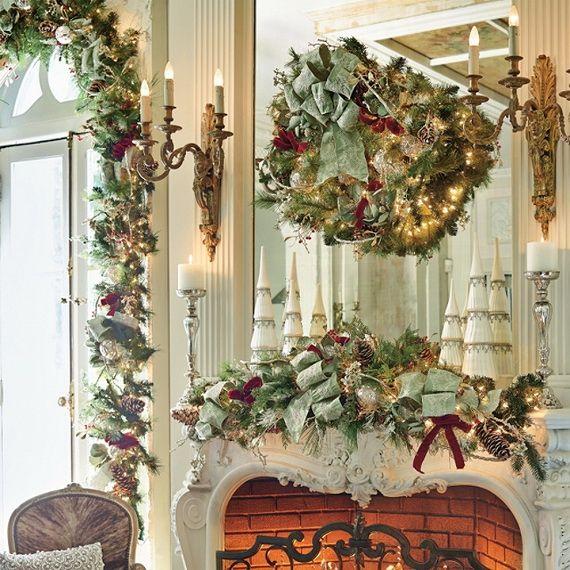Gorgeous Fireplace Mantel Christmas Decoration Ideas - family - christmas decorations for mantels