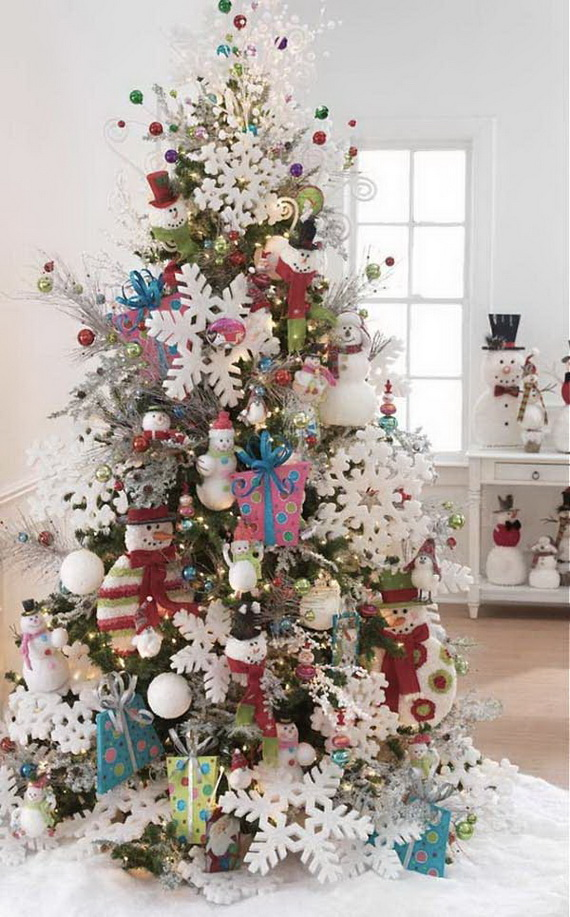 50 Festive Christmas Tree Decorating Ideas - family holidaynet