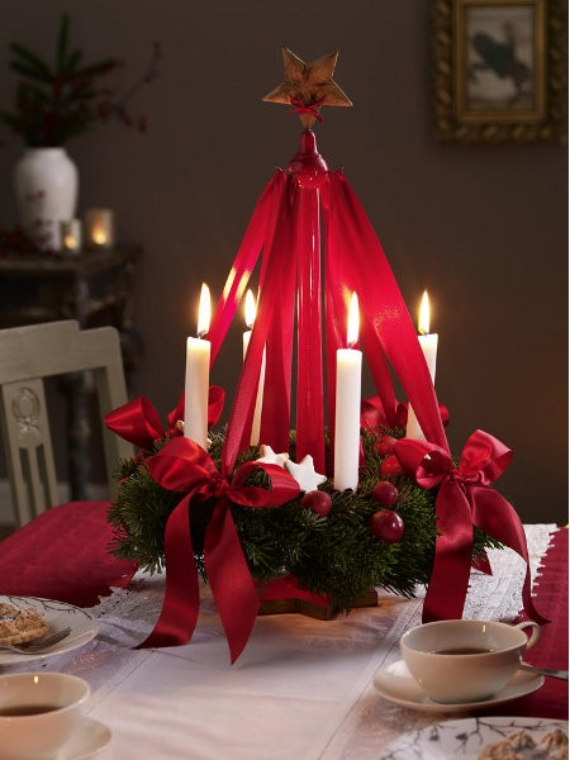 Fall Candles Wallpaper 35 Creative Christmas Decoration Diy Advent Wreath Ideas