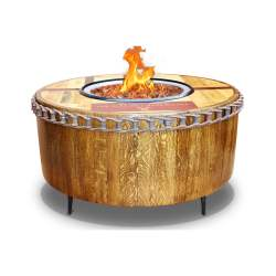 Small Of Wine Barrel Fire Pit