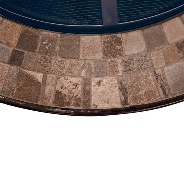Natural Slate Tile Top Fire Pit