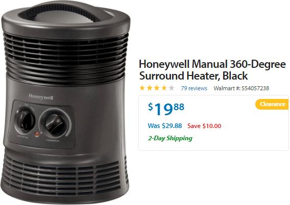 Walmart Honeywell 360 Degree Surround Heater Just 1999