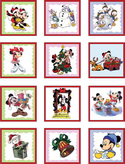Mickey Christmas Stickers, Mickey Mouse, Stickers - Free Printable