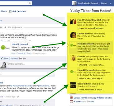 Facebook Ticker & Privacy